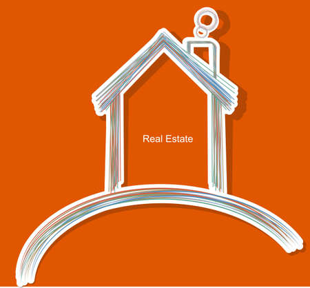 residential market: abstract real estate vector