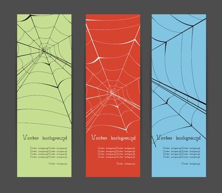 spider banner vector background Vector