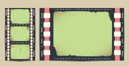 Film tape. cinema vectr background Vector