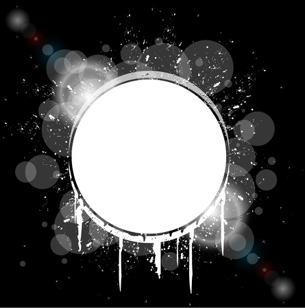 white hole splash on black background vector Vector