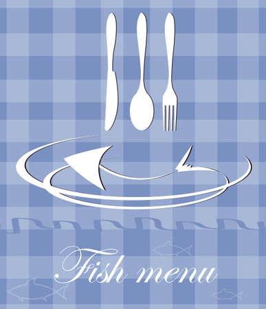 fish menu for restaurant Vector
