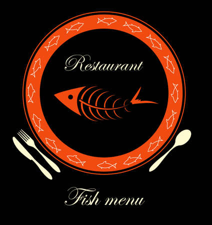 carp fishing: fish menu for restaurant