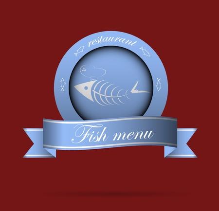 dinner plate: fish menu for restaurant