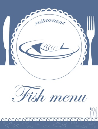 fish menu for restaurant Vector
