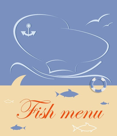 fish menu for restaurant Stock Vector - 12463857