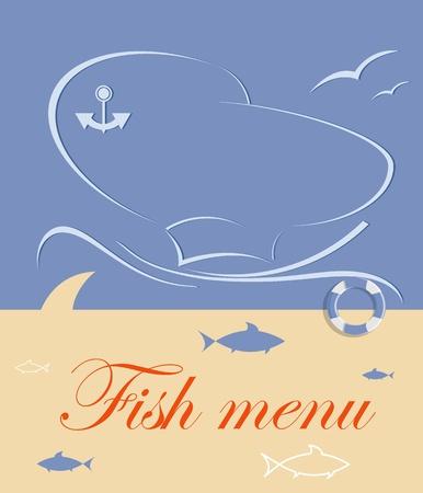 seafood dinner: fish menu for restaurant