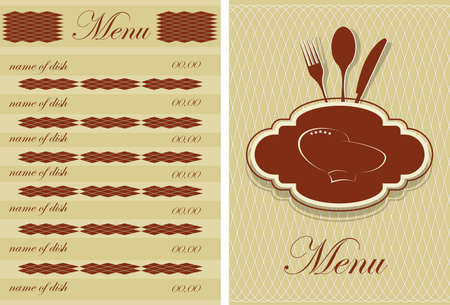 food and drink holiday: Restaurant menu design
