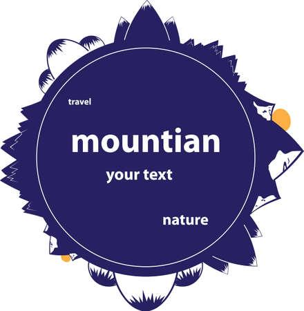 Mountain format Vector