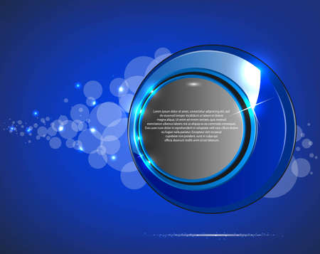 Abstract blue glossy speech bubble Vector