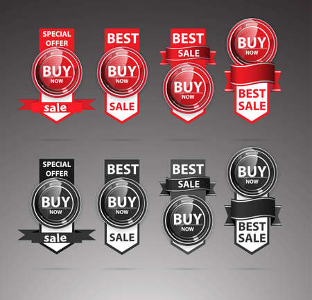 Discount labels for best sale Vector