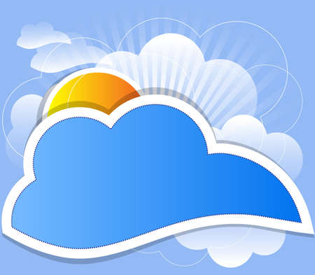 view from the plane: cloud background vector Illustration
