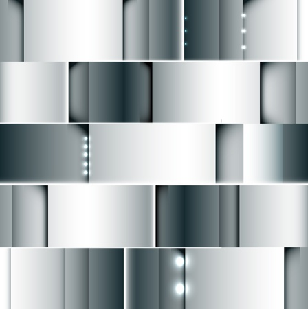 luz focal: abstracta de acero gris de fondo con el vector de punto de luz Vectores