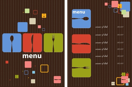 vintage cutlery: Restaurant menu design