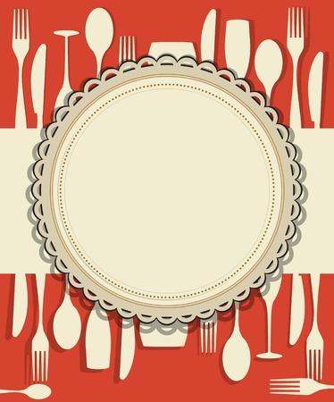 cuchillo de cocina: El dise�o del men� del restaurante Vectores
