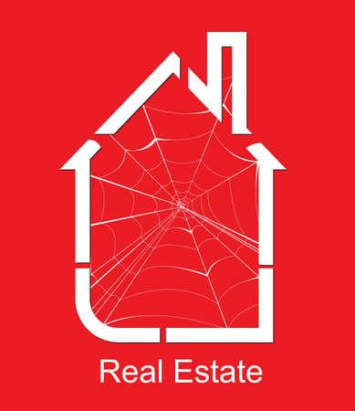 real estate spider vector Vector