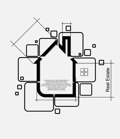 housing estate: real estate circuit vector