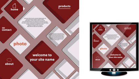 abstract site design vector Vector