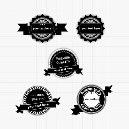 grunge banner: Collection of vintage labels and stamps vector