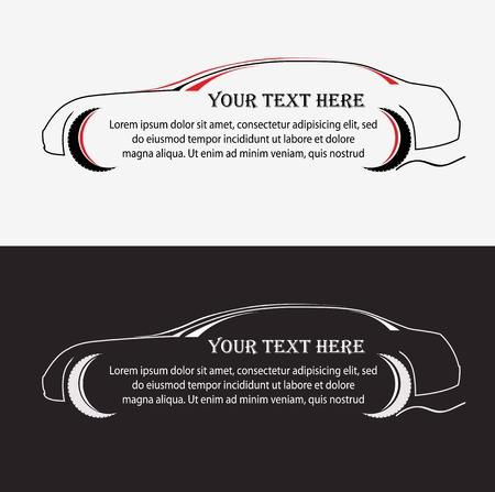 fast cars: Silhouette of the car vector dasign Illustration