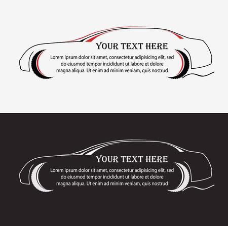 contorno: Silueta de la dasign vector de coche Vectores