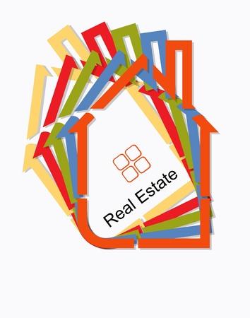 housing estate: real estate card vector