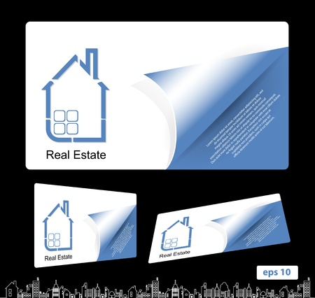 real estate bussines card Vector