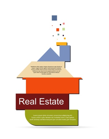banking concept: abstract real estate vector