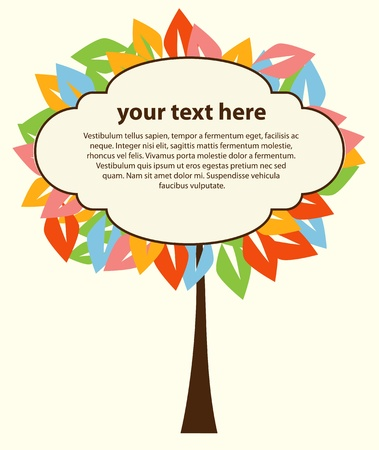 Abstract tree for text vector Stock Vector - 12838335