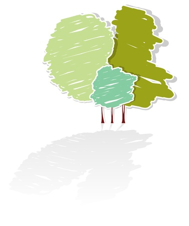Stylized abstract tree vector Vector