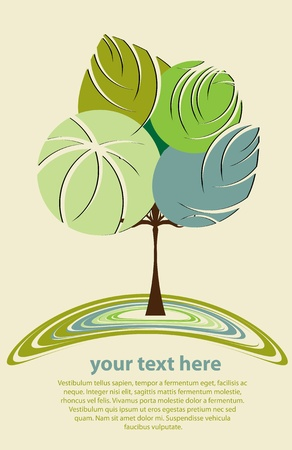 new life: Stylized abstract tree vector Illustration