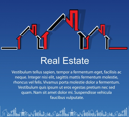 apartment market: Resumen de vectores de fondo inmobiliario