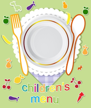 childrens menu vector design Vector