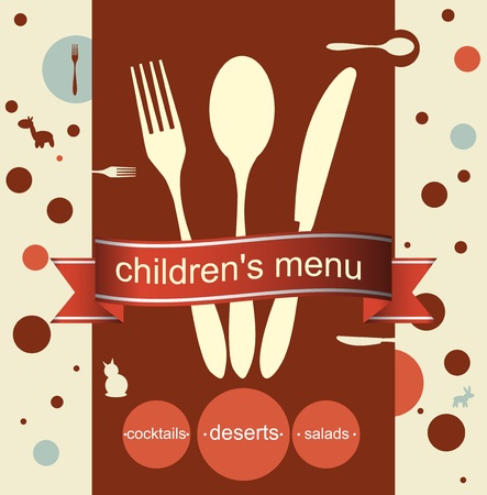 children's menu vector design Vector