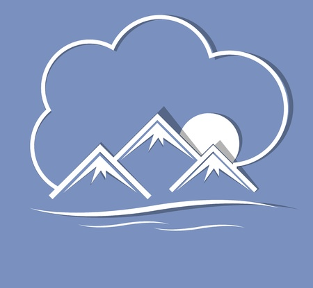 Mountains with cloud Vector