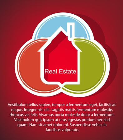 real estate icons: Abstract real estate vector background