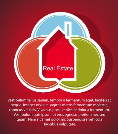 housing estates: Estratto immobiliare sfondo vettoriale