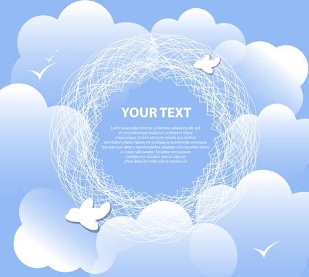 cloud background for text vector  excellent weather Vector