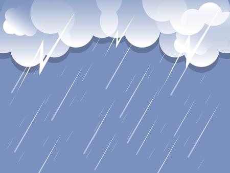 storm cloud: rain cloud background vector Illustration