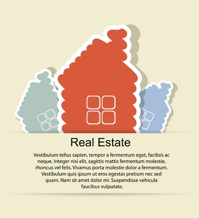 Abstract real estate vector background Vector