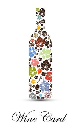 wine card design  Illustration