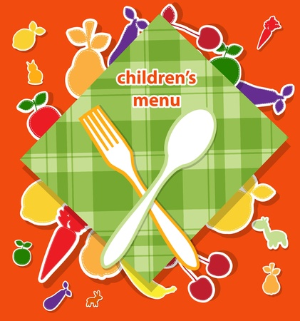 vintage cutlery: Childrens menu design