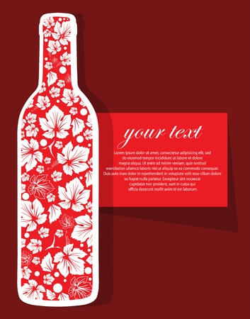 wine background with wine bottle Stock Vector - 12949908