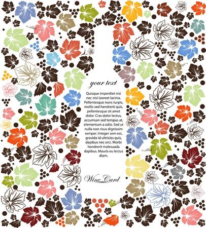 Carta dei vini di sfondo Vettoriali
