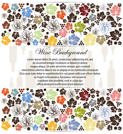 wine background with wine bottle Vector