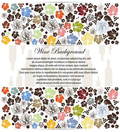 wine list: wine background with wine bottle