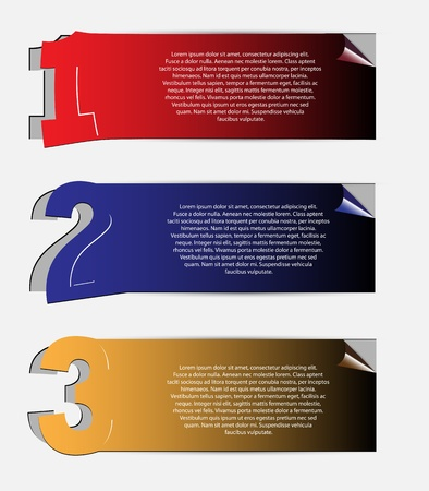 set of stickers and banners for text Vector
