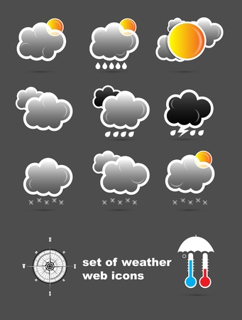 day forecast: set of weather web icons Illustration