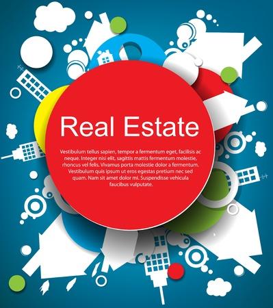 реальный: Аннотация реальный фон недвижимости Иллюстрация