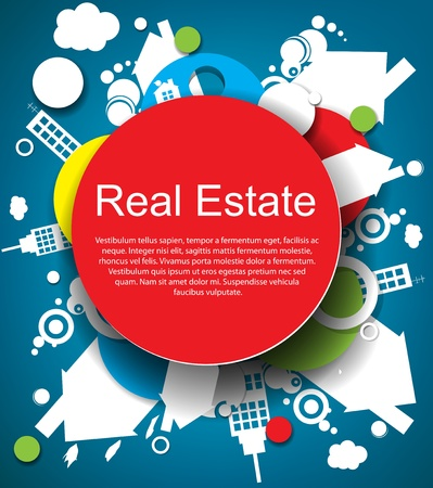 real estate icons: Abstract real estate background Illustration