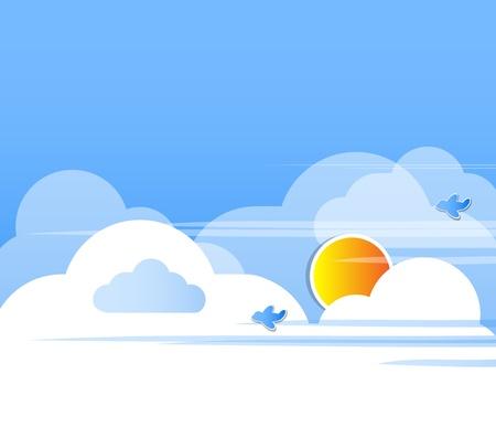 Cloud background vector Stock Vector - 13077446